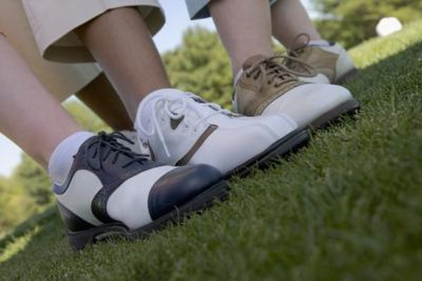 Casual shoes are acceptable, but golf shoes offer players enhanced performance.