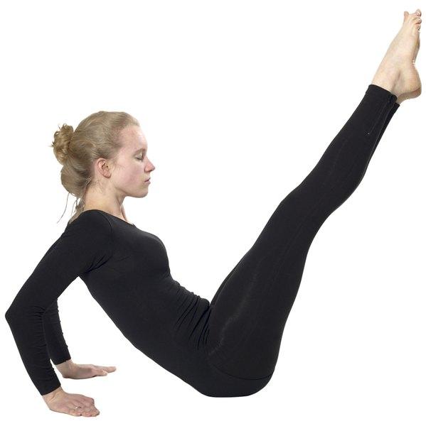 Hard Core Yoga Exercises at Home - Woman