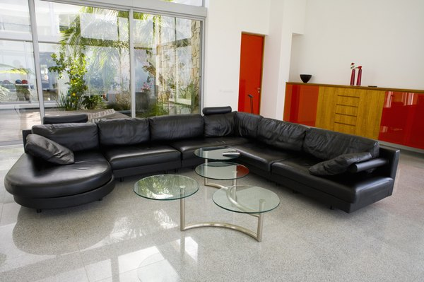 How to decorate a small living room with a dark brown sofa for Black front room furniture