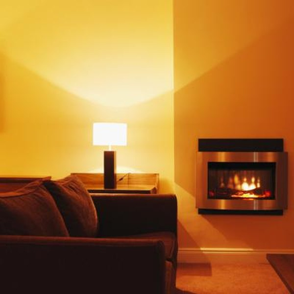 How to Decorate a Large Wall With a Small Electric Fireplace | Home ...