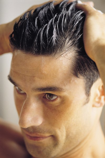 Men and women both frequently use styling gels and creams.