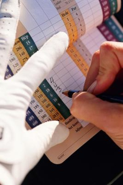 Scoring in golf involves counting the number of times the ball is struck while in play.
