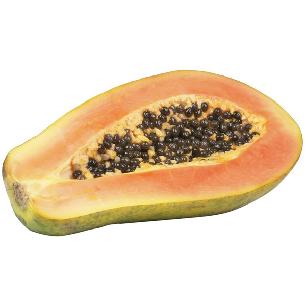 Papayas are rich in lycopene.