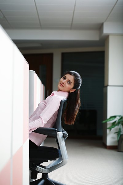 Abdominal Exercise While Sitting Woman
