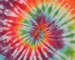Tie dying shirts is an easy craft with results you can wear.
