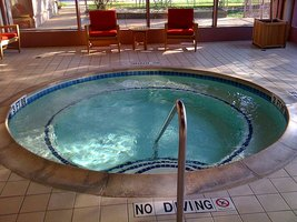 A hotel Jacuzzi
