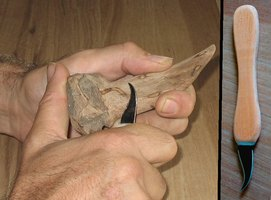 Advanced design whittling knife