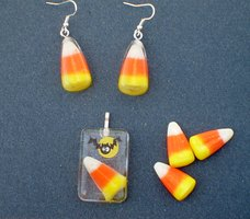 Real Candy Corn Preserved in Resin