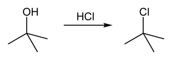 Tert-Butyl Chloride: Overall Reaction