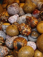 Paint gourds after they have dried out completely