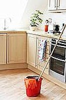 Mop the Floor without Cleaner or Sticky Residue