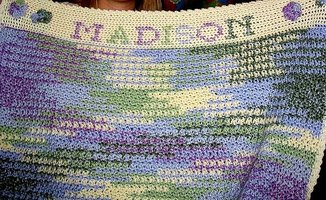 Crochet Personalized Baby Blanket Afghan - Make a Treasured Family Heirloom!