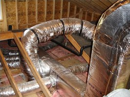 Ductwork in the attic