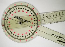 A goniometer is used to measure a joint's range of motion.