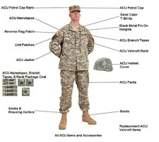 ACU Uniformed Soldier
