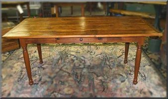 Farm Table from Old Lumber