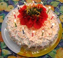 Add your own personal touch with a homemade birthday cake.