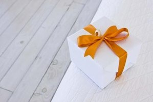 A gift card box can double as a keepsake box after the wedding.