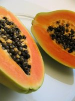 follow the thing papaya Commonly found and extracted from the papaya fruit, papain is an enzyme that has many health benefits the health benefits of papain 1 boosts digestion one of the key areas in which papain serves the body is in the realm of its protein-digestive properties.