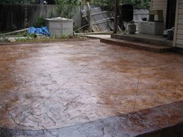 How To Stamp A Concrete Patio Ehow