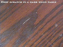 how to fix scratches on glass table