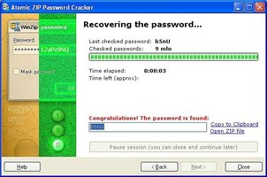 crack/hack password protected zip files