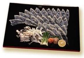 Fugu is served in raw, paper-thin slices.