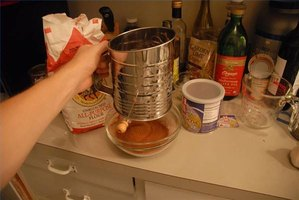 A basic flour sifter, which is sometimes called for in recipes.