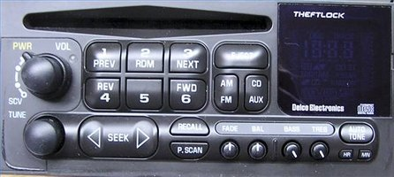 Typical GM Bose head unit