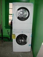 A stacked washer-and-dryer unit.