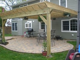 How to Build a Pergola (Attached to House) | eHow