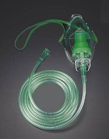 Most nebulizers have a mask and hose system that feeds from the vaporizing unit.