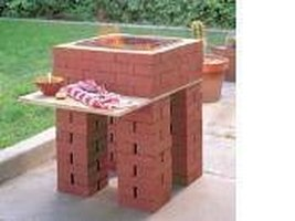 A brick grill for the backyard