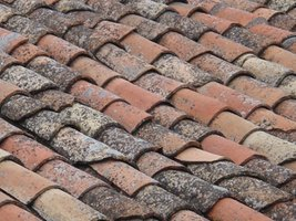 Rustic roof tiles