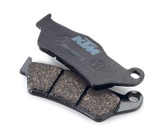 A typical set of brake pads