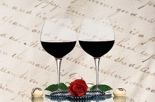 Wine, roses and writing