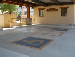 Epoxy flooring is an excellent choice for outdoor areas such as carports and parking garages.