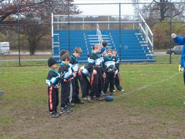 children at flag football practice