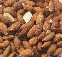 Almonds are effective skin exfoliators.