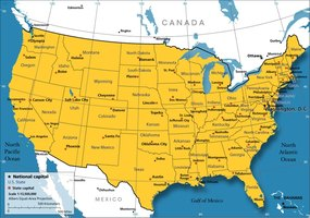 A map of the United States