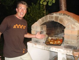 Wood burning pizza ovens make delectable pizza.