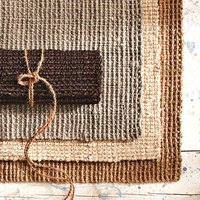 Jute rugs are both durable and eco friendly.