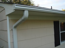Gutters channel water away from a home.