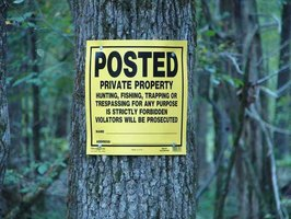 Posting your land may be as simple as placing signs.....or not perhaps not so simple.