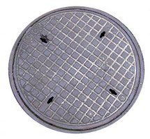 A manhole cover can easily be removed with the right tools.
