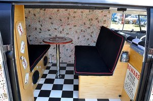 Fancy camper van conversion.