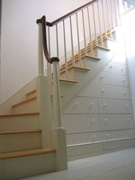 This beautiful stair railing design lends itself to the home's architectural appeal.