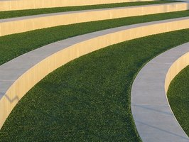 Artificial turf seating at Ryan Park in Foster City, California