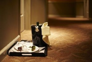 Offer room service to entice guests to stay at your hotel.