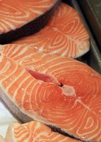 Salmon gets its pink color from astaxanthin.
